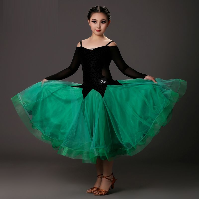 a49c9ef8b139 Find More Information about Girls Waltz/Modern Dance Costume Rose Red/Green  Color Standard