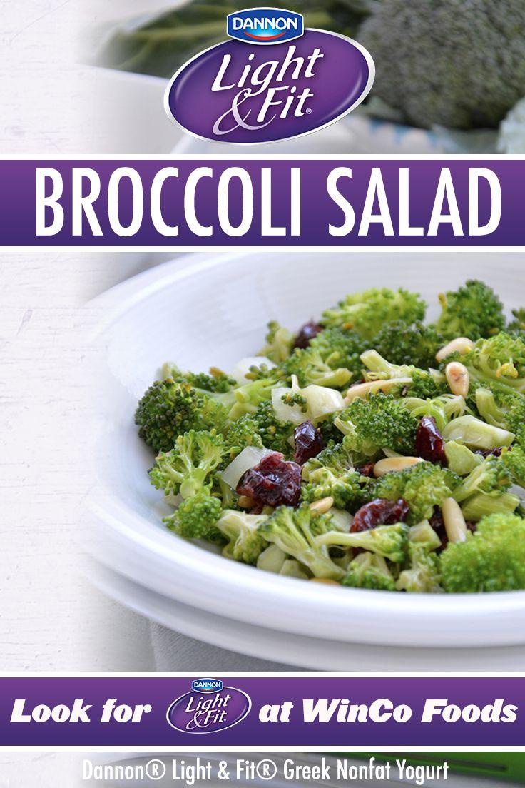 Broccoli salad featuring dannon light fit greek nonfat