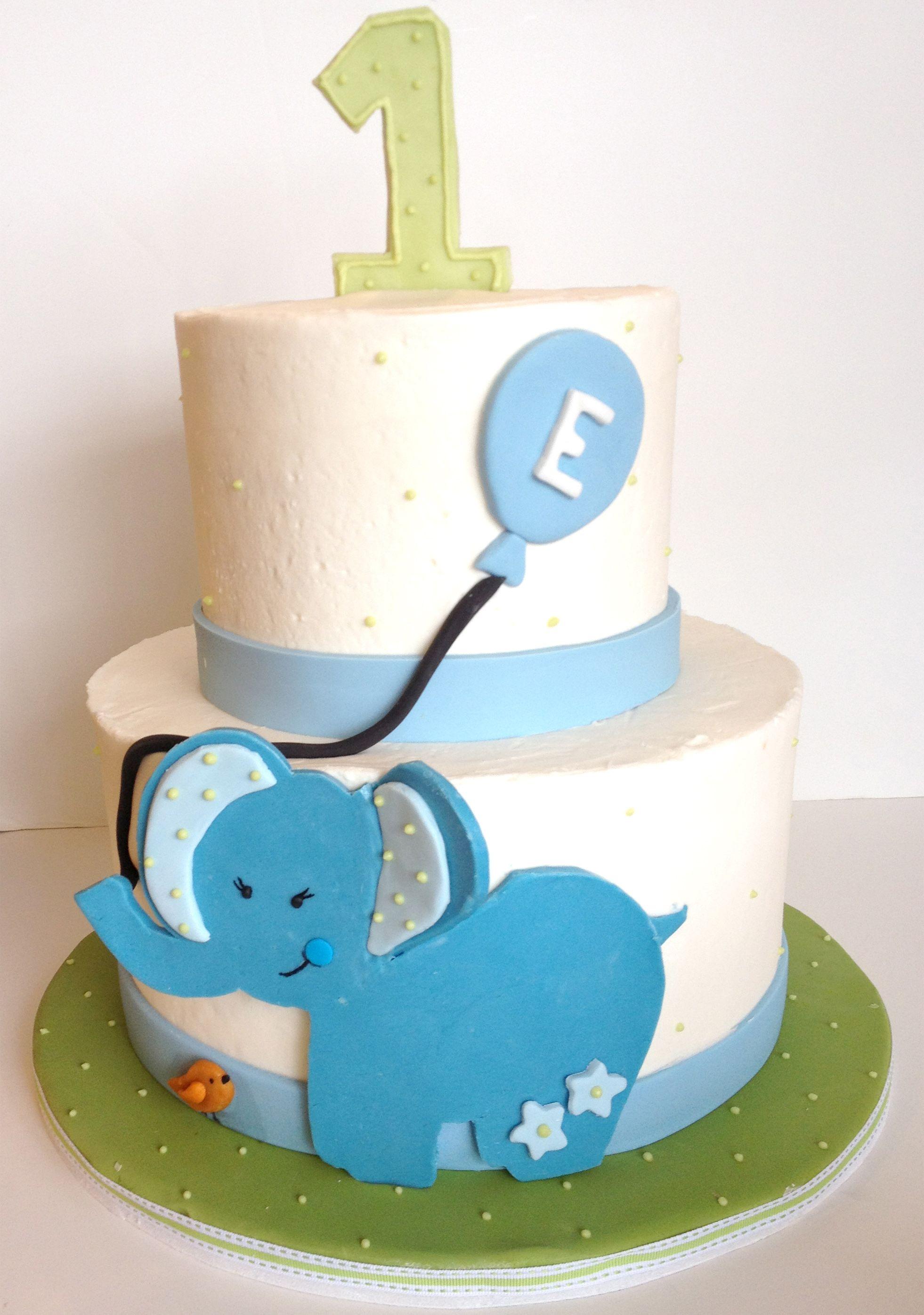 Blue elephant cake  ^v^v^  Cake Decorating  ^v^v ...