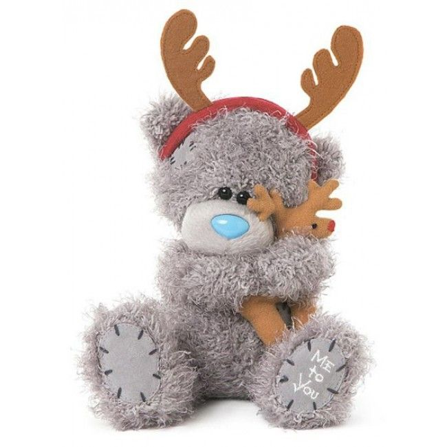 Me To You Holding Reindeer Teddy Bear