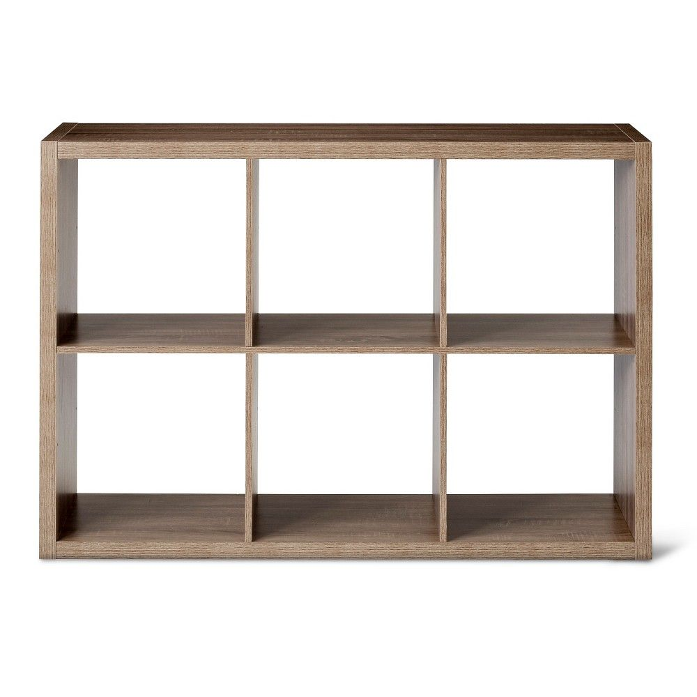 6 Cube Organizer Shelf Weathered Gray 13 Threshold Cube