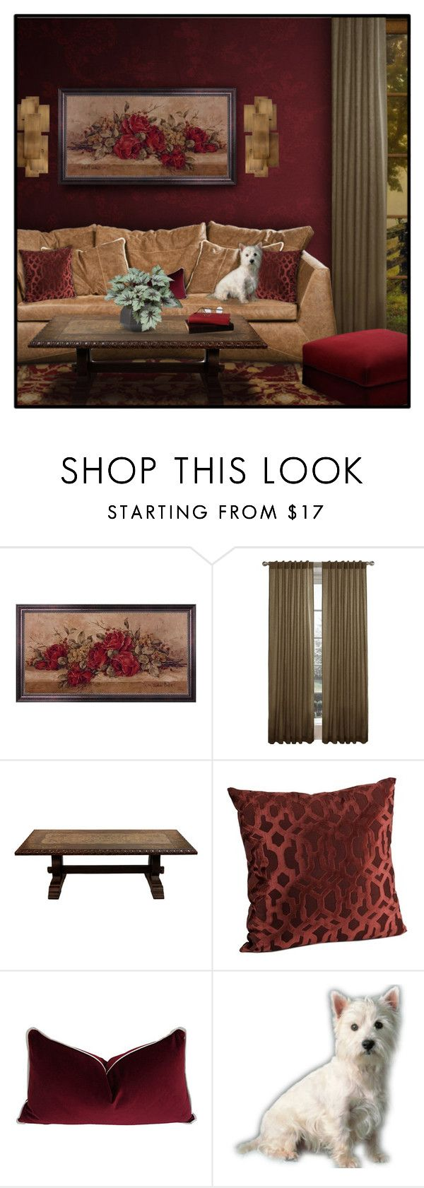 """""""3/5 RED + BROWN"""" by signaturenails-dstanley ❤ liked on Polyvore featuring interior, interiors, interior design, home, home decor, interior decorating and Maytex"""