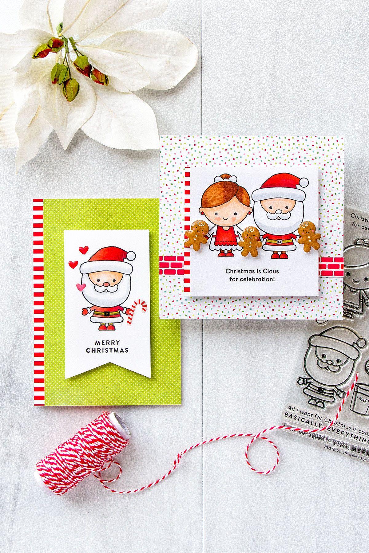 Simon Says Stamp December 2017 Card Kit 5 Card Ideas Card Kit 2017 Card Card Kits