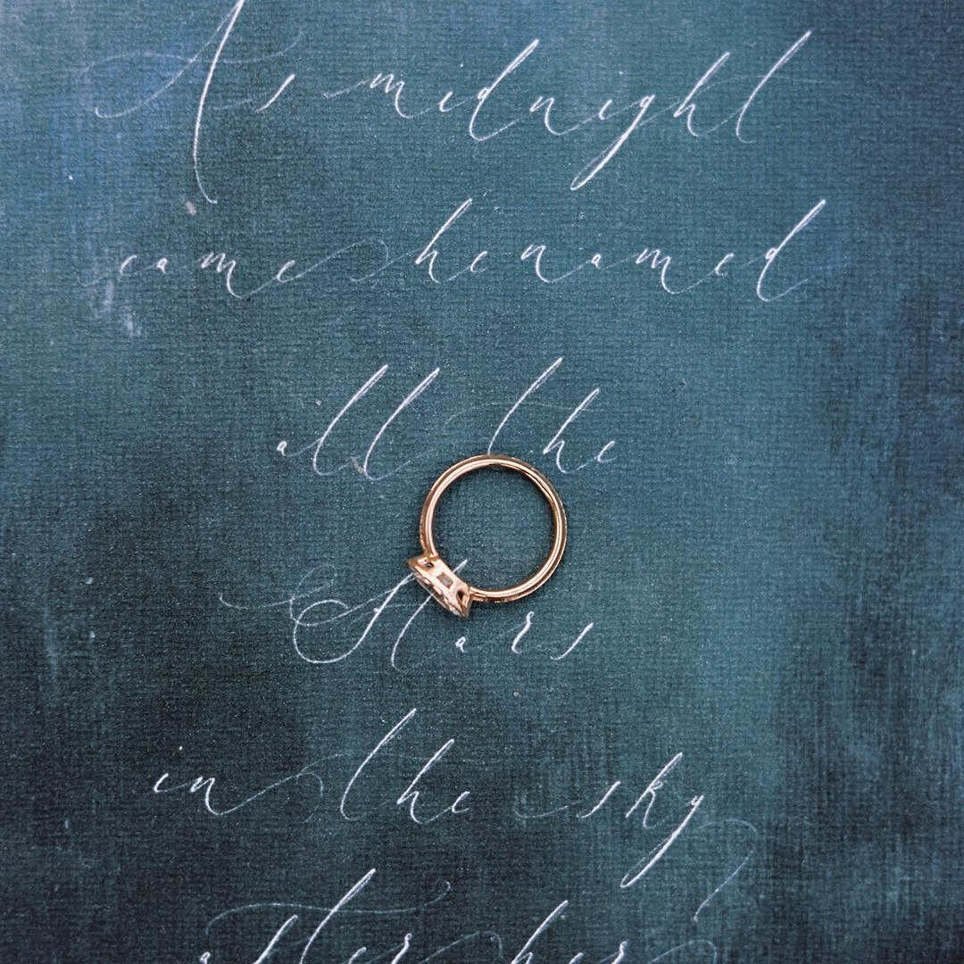 Love ...Deep as the Ocean | Photography @orangephotographie | Calligraphy @the_little_north_sea_studio | Ring @susiesaltzman | Featured on @cottagehillmag by susiesaltzman