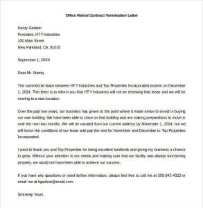 letter of contract termination