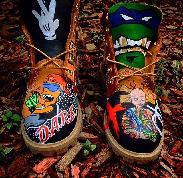 custom design timberland boots