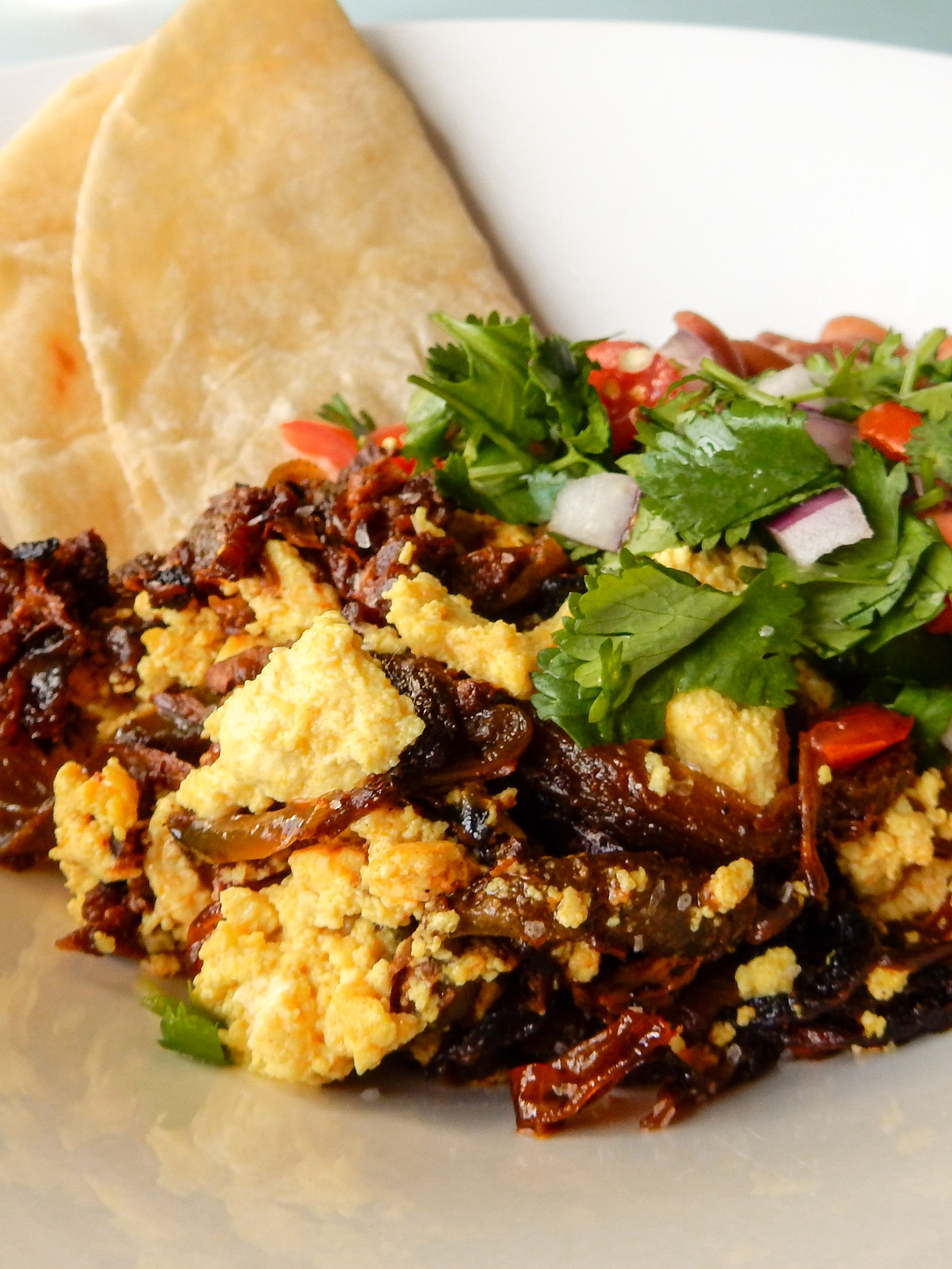 Vegan Jackfruit Machaca Con Huevos Vegan Recipes In 2019