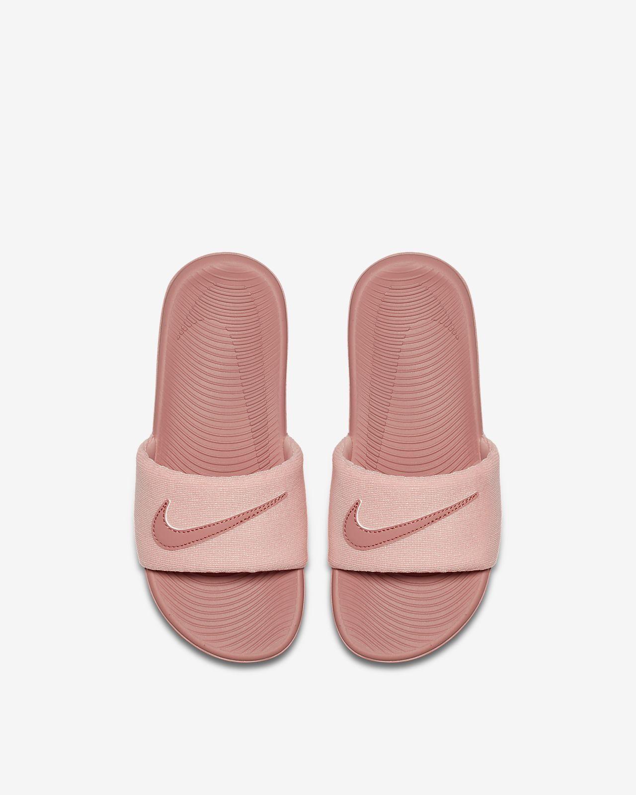 f33324f1b22d6d Nike Kawa SE Little Big Kids  Slide
