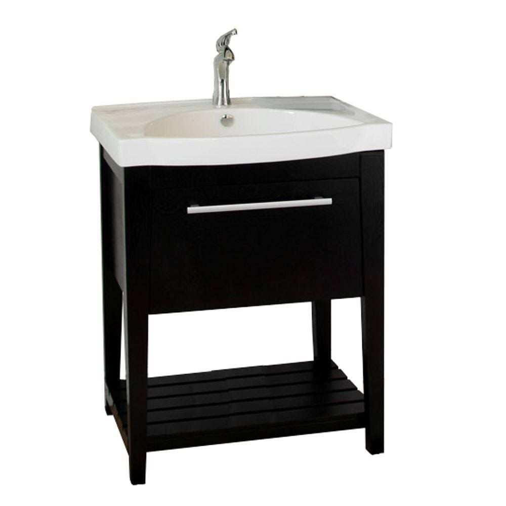 Bellaterra Home 804353 27 5 Single Sink Vanity In Black Single