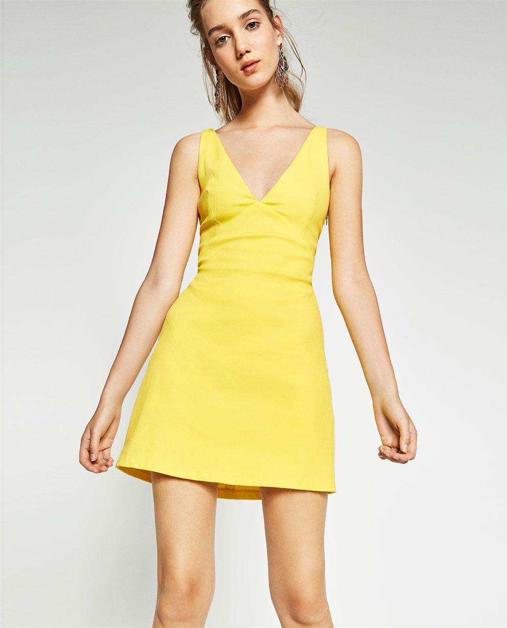 Image 3 of DRESS WITH KNOTTED BACK from Zara