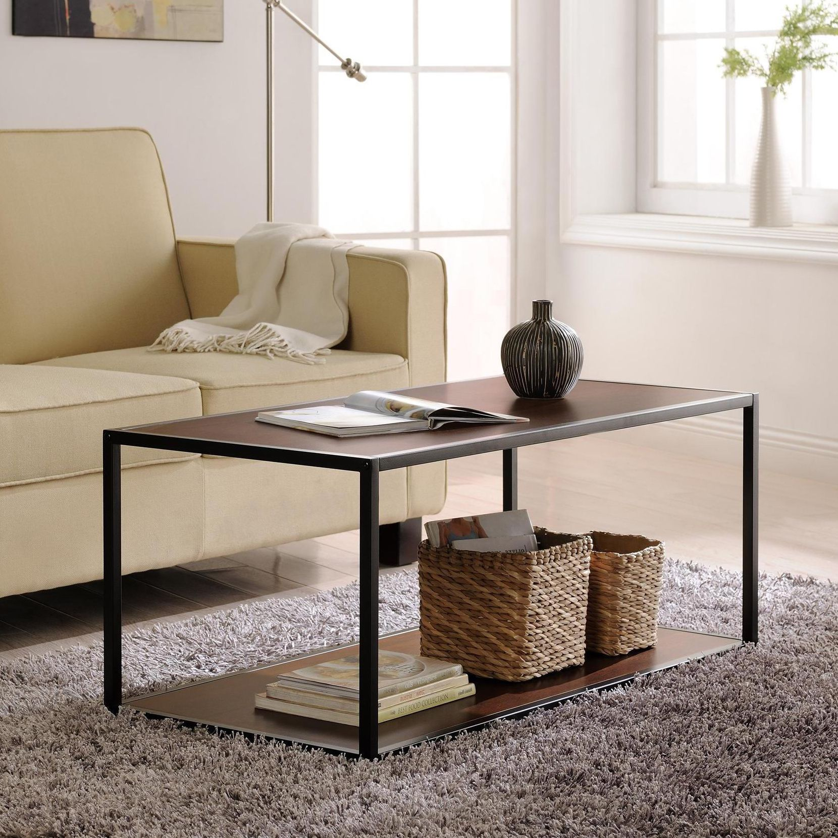 Great In Virtually Any Decor, Including Modern, Transitional And Casual  Spaces, This Unique Coffee Table From Altra Furniture Features A Warm Wood  Grain ...
