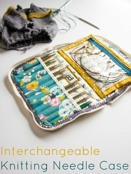 Leather Interchangeable Knitting Needle Case Pincushions And