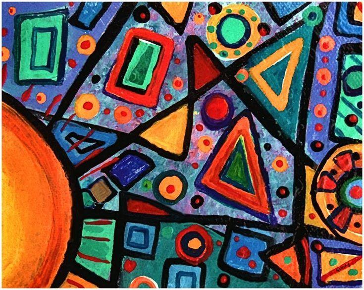Abstract sun print etsy abstract art prints
