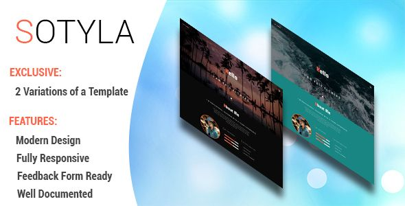 Sotyla - Creative Personal Portfolio HTML 5 Template Personal - free feedback form