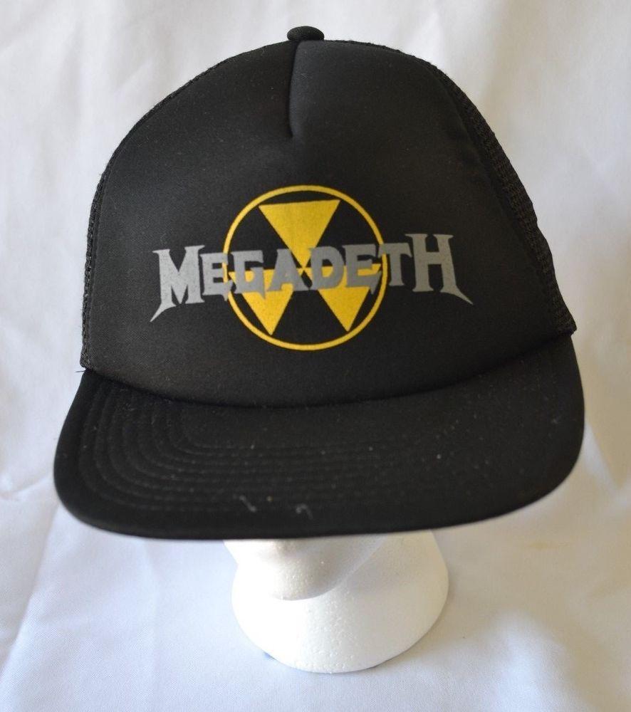 MEGADETH Rust In Peace Trucker Hat Cap Snapback Mesh Vintage Thrash Metal  Band  MEGADETH  BaseballCap fc99396e564