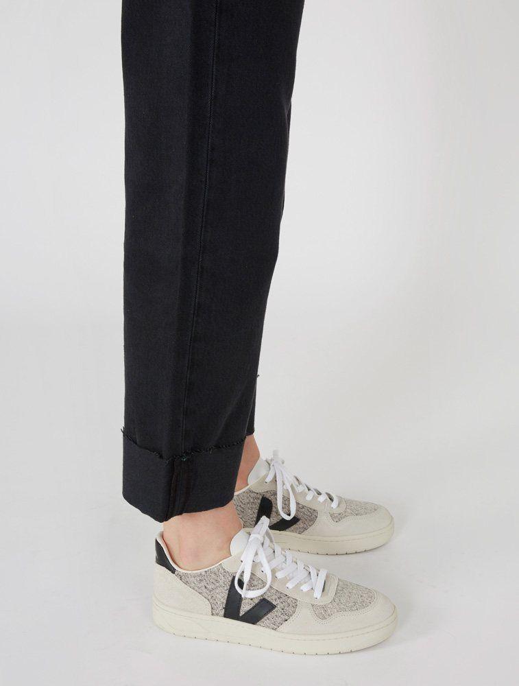 Veja V-10 Flannel Sneaker - Snow Black