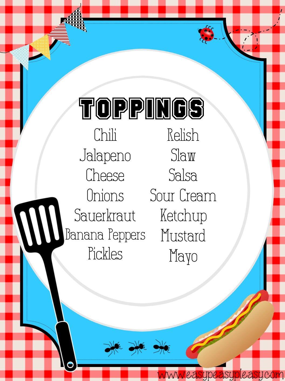 Teacher Appreciation Lunch Ideas Hot Dog Bar  Hot Dog Bar -2016