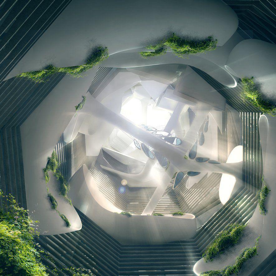 Citadel Skyscraper / Victor Kopeikin + Pavlo Zabotin,atrium 01