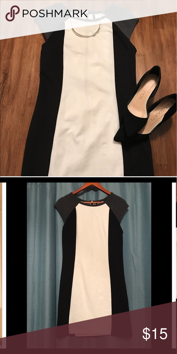 Color block dress Reposhing only because it's too big for me. I'm 5'3 and 120lbs.  Very cute dress. Would be great for the office. Good quality. Dresses Midi