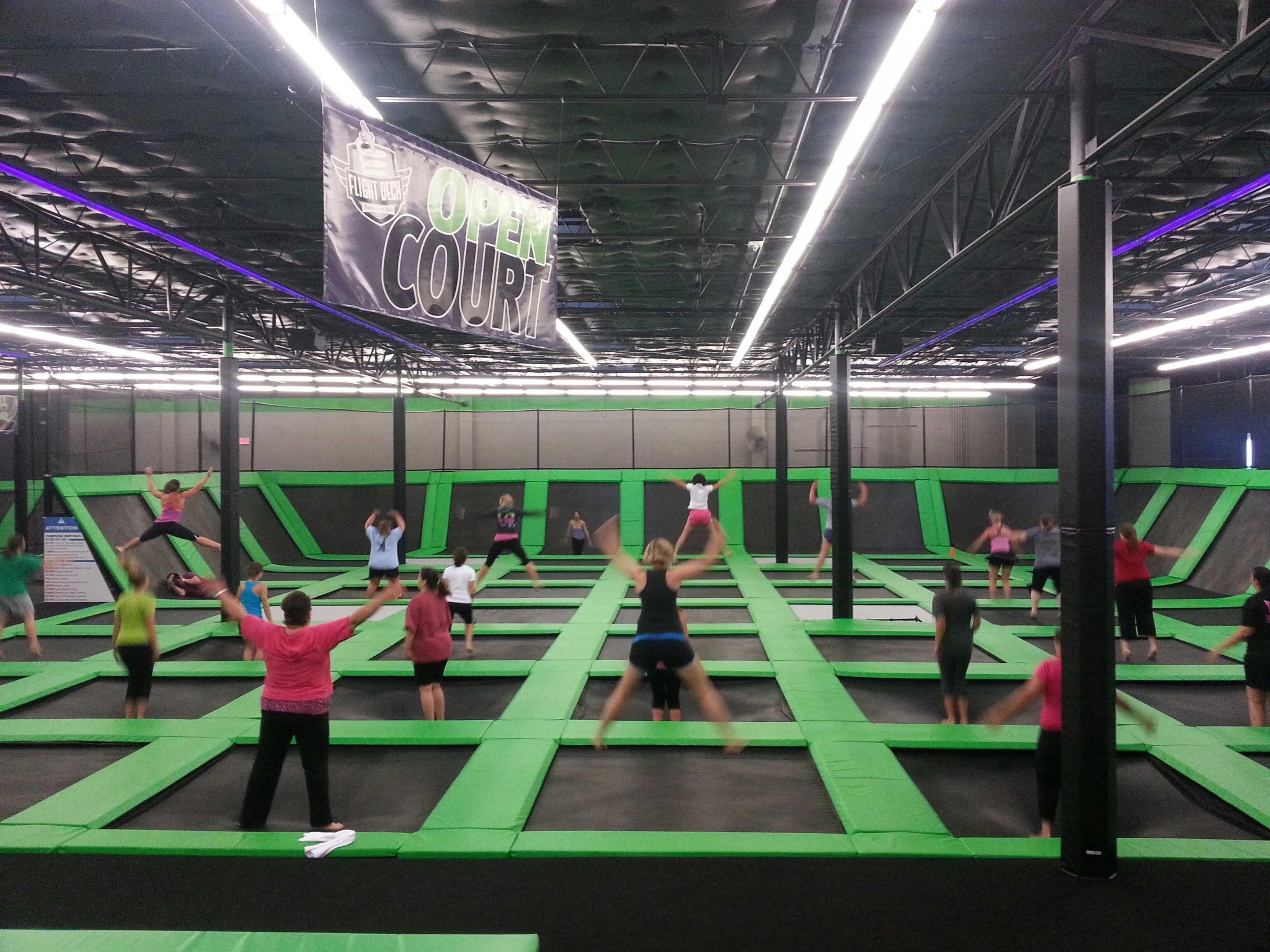 Vertical Aerobics In Arlington Tx Flight Deck Trampoline Park Aerobics Aerobics Classes