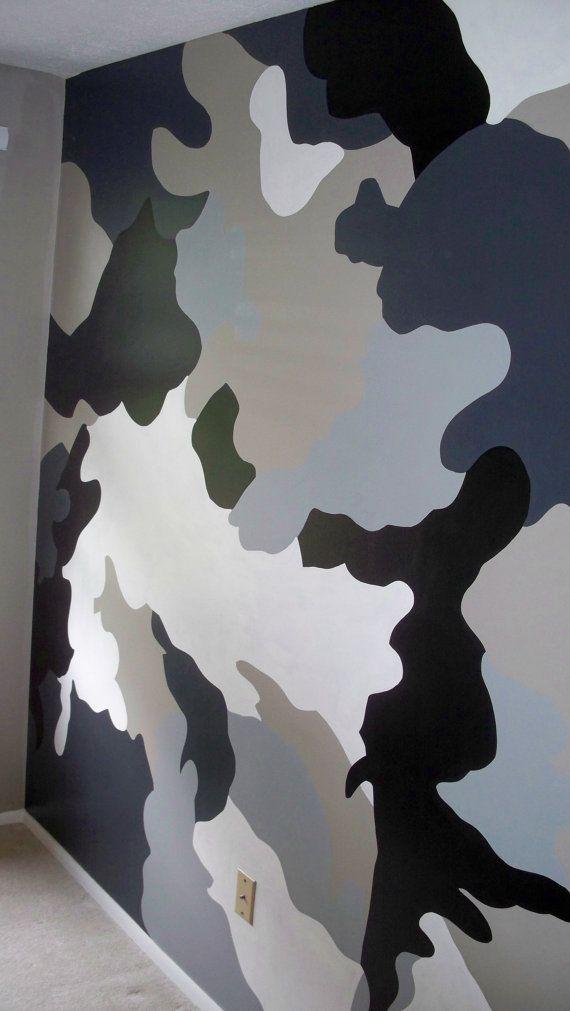 Camouflage Bedroom Wall Muralplease Read By Lynnemackmurals 0 20