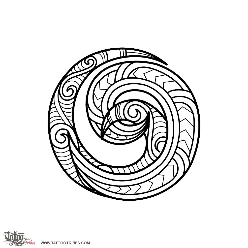 Maori Wave Tattoo: Double Koru. Meeting. A Double Koru Like The One