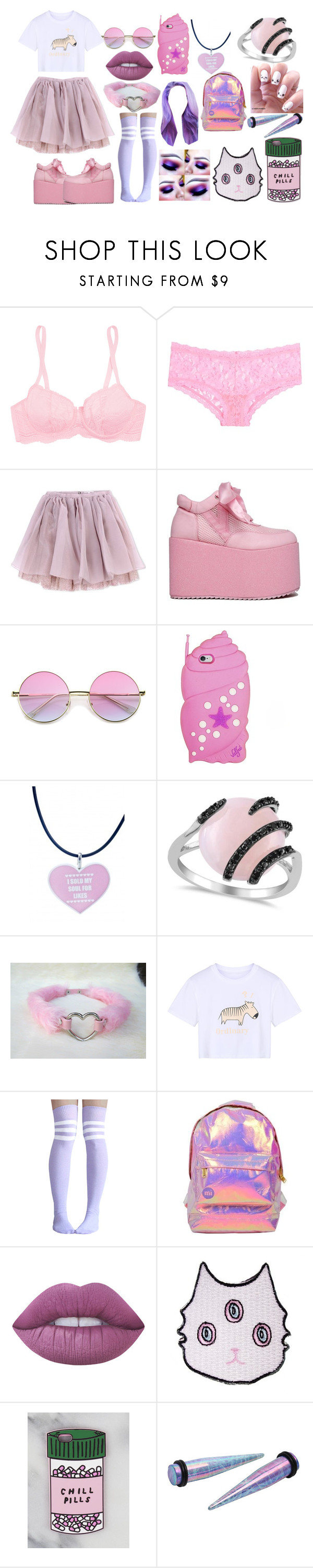 """""""Untitled #755"""" by kaninekiller ❤ liked on Polyvore featuring Cosabella, Hanky Panky, Olympia Le-Tan, ZeroUV, Valfré, Allurez, WithChic, Miss Selfridge and Lime Crime"""