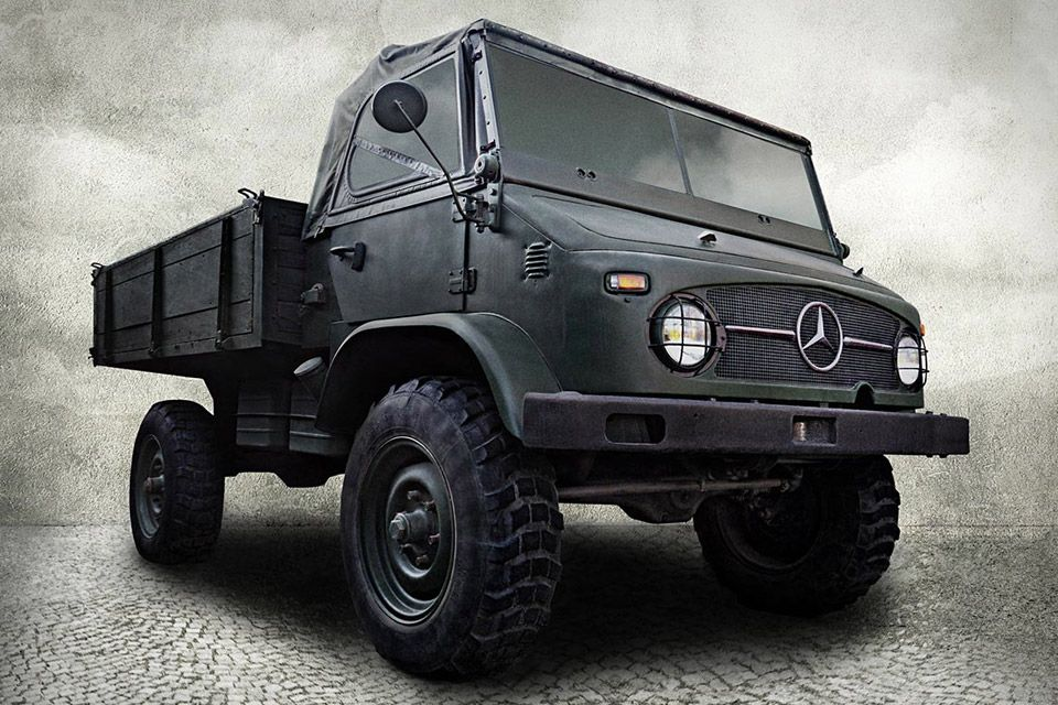 Don't let its age fool you — the 1955 Mercedes-Benz 404 Unimog ($28,000-$140,000) is still one of the toughest vehicles on the road. Currently located in SoCal, this unique specimen — it was the fourth to roll off the assembly line, and one of only 1,210 produced in the series — is available in as-is condition, or as a fully-restored, better-than-new vehicle.