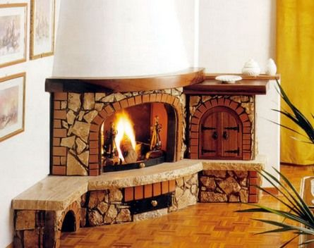 for round corner fireplaces corner fireplaces design ideas galleries - Corner Fireplace Design Ideas