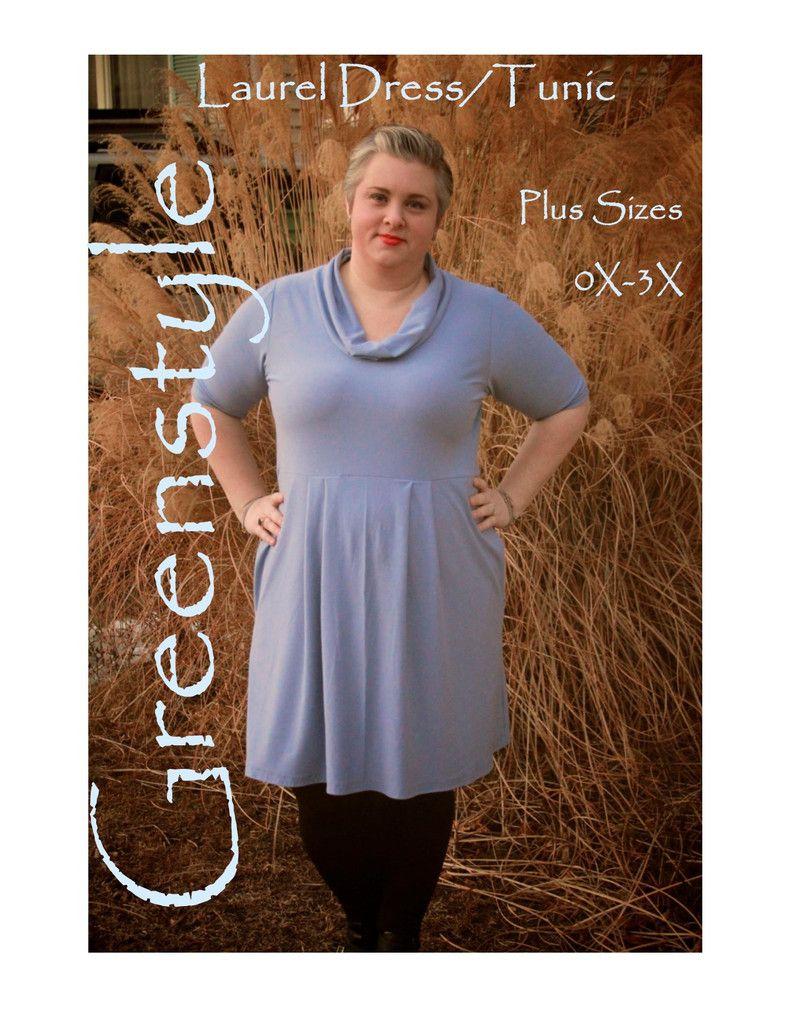 PLUS Size Laurel Dress/Tunic PDF Sewing Pattern | Erwachsene ...