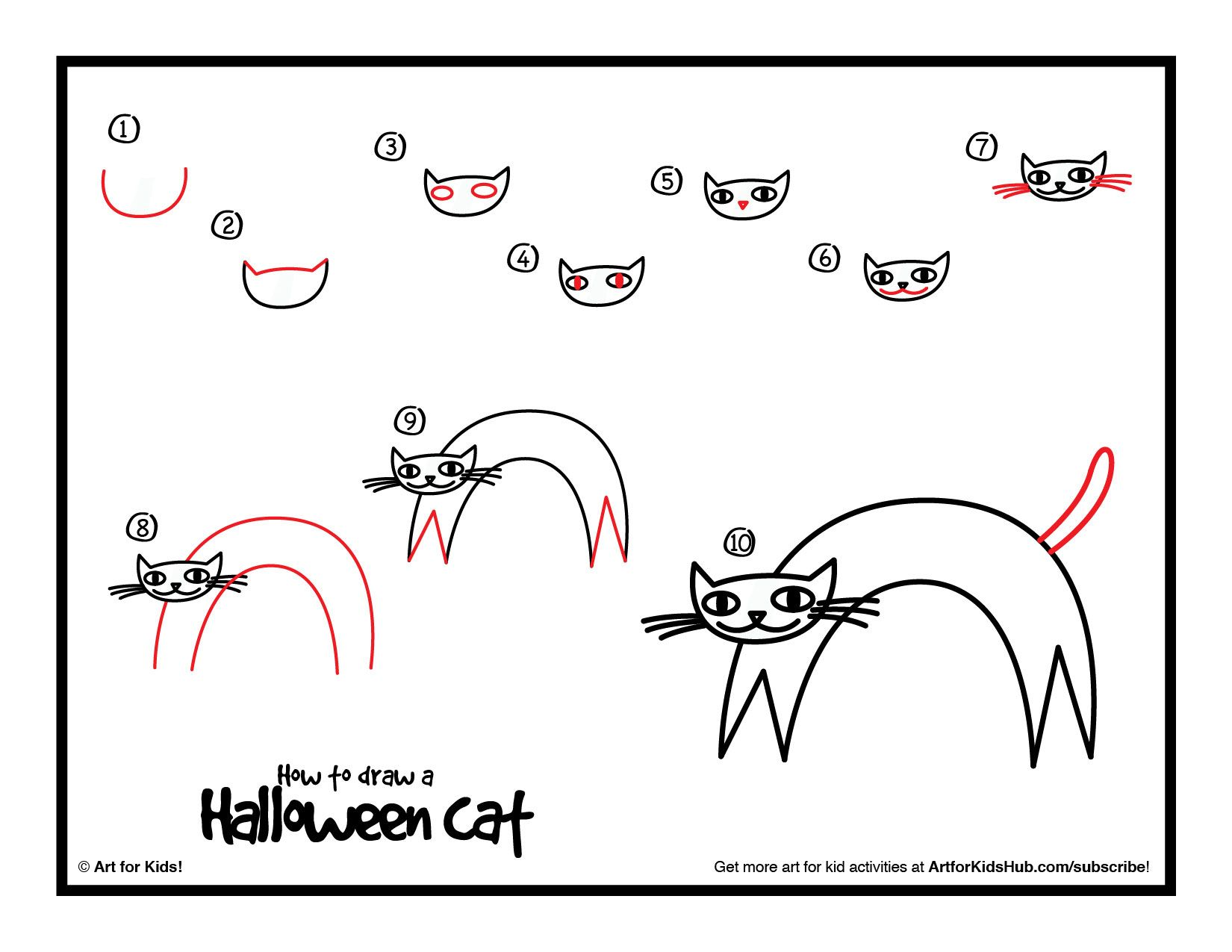Learn how to draw a scary kitty #hackandhash | Hack and Hash ...