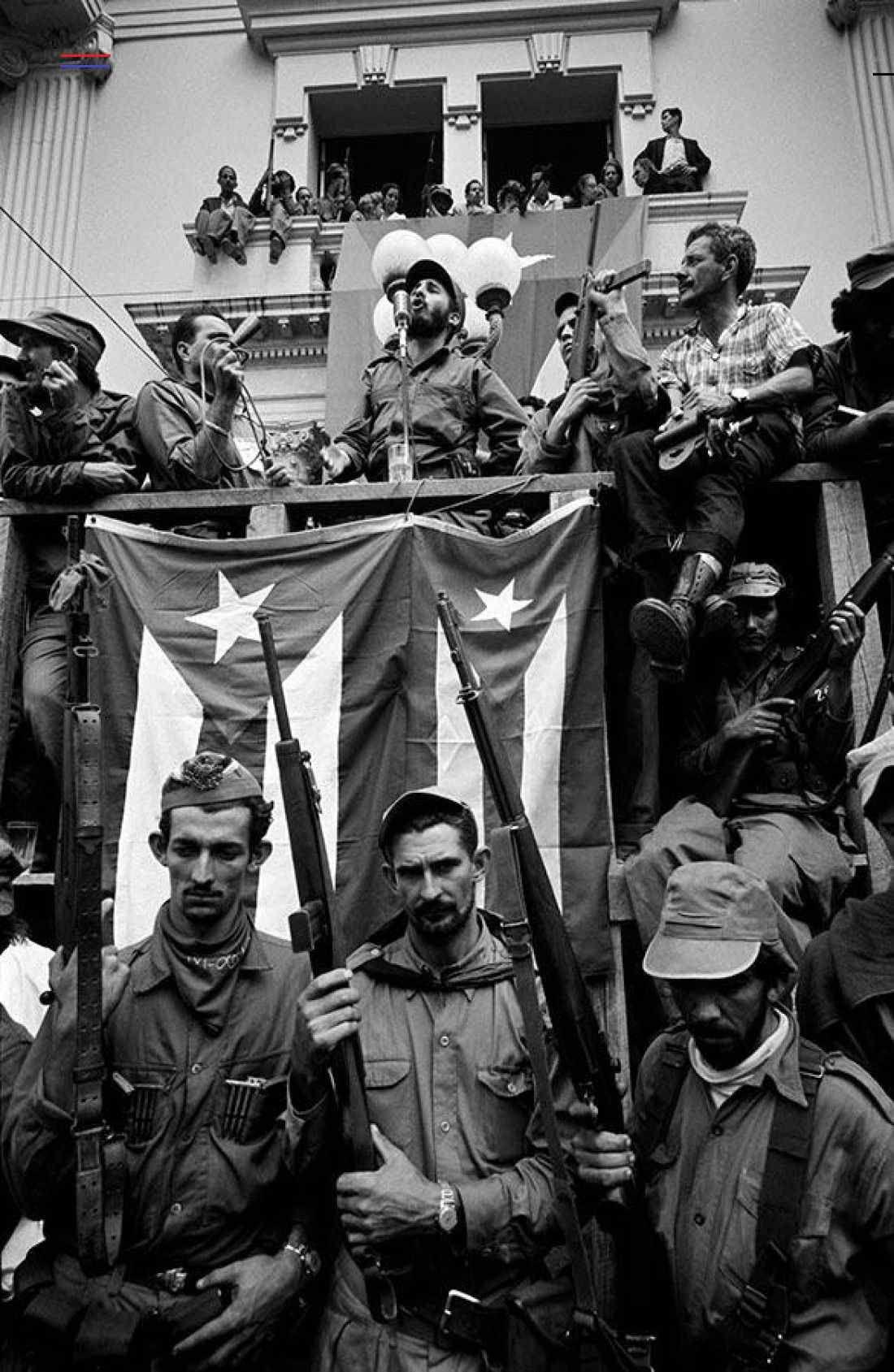 Fidel Castro delivering an hourslong speech. Cuba, 1959