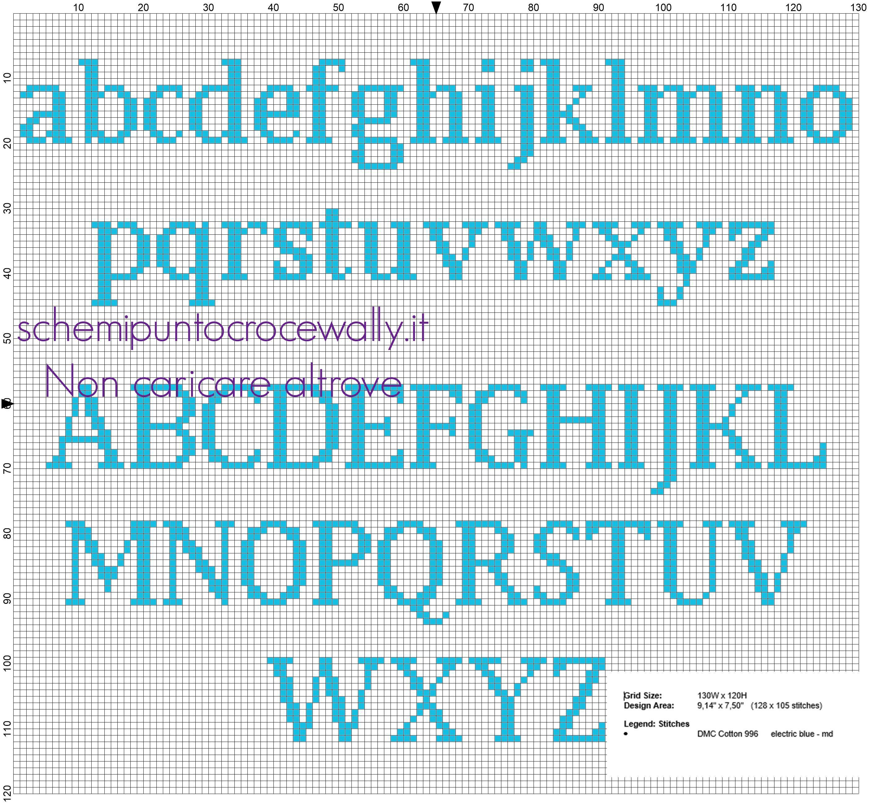 Famoso Risultati immagini per alfabeto minuscolo punto croce | havlularım  UT15