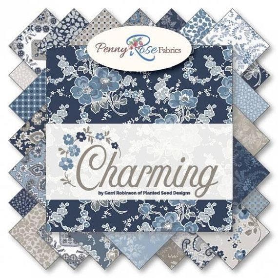 Charming 10 Stacker Layer Cake Penny Rose Fabrics 10 6650 42 42 10 X 10 Fabric Squares Blue Floral Fabric Square Fabric Squares Fabric Floral Fabric