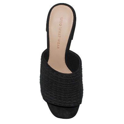 Felicity Macrame Strap Block Heel Slide Sandals Who What Wear