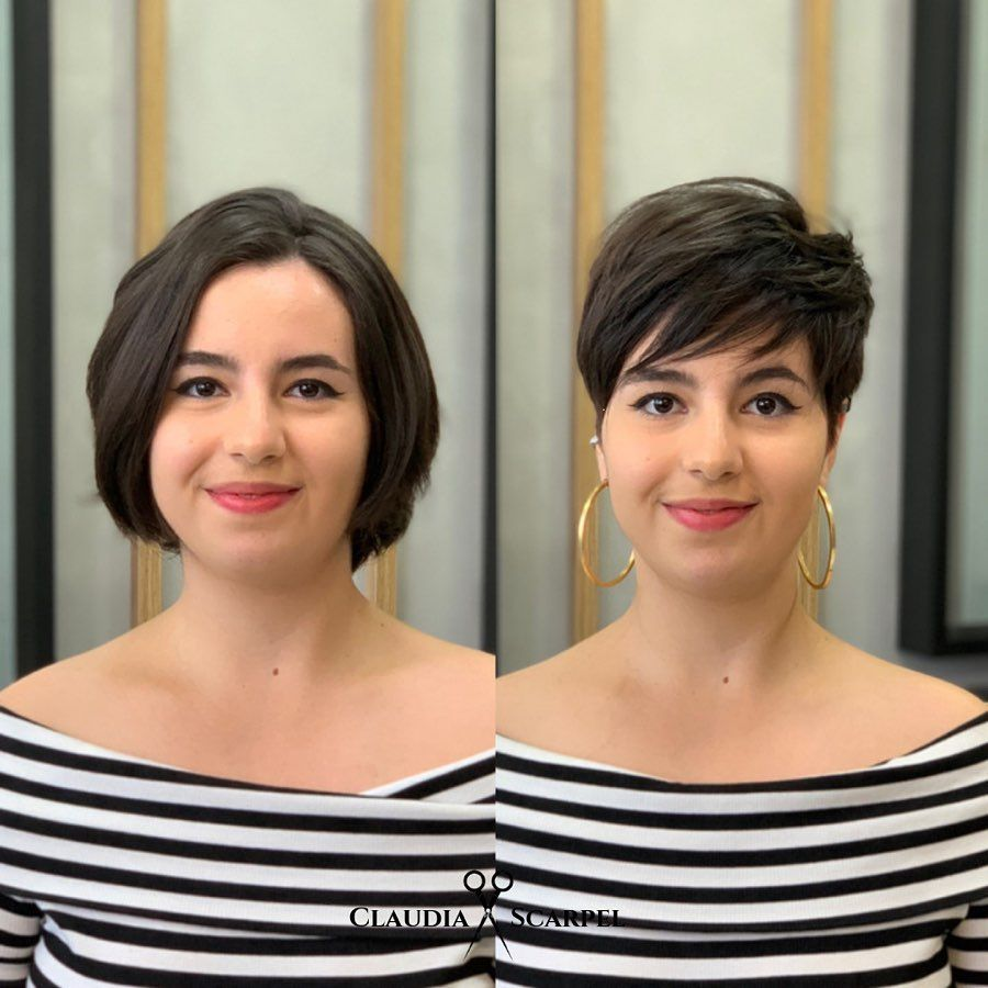 38++ Face slimming haircuts before and after ideas