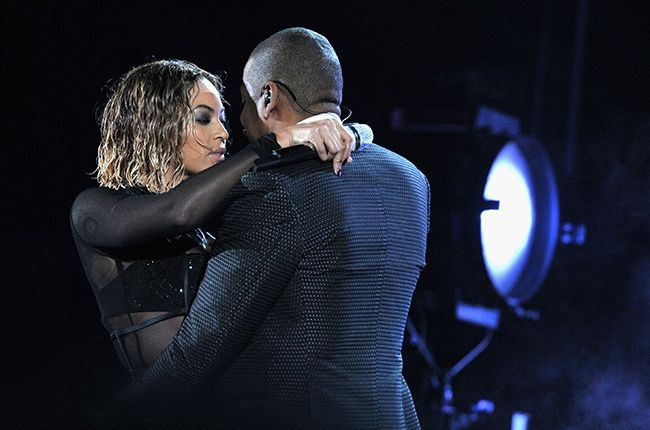 Beyonce and Jay-Z perform during the 56th GRAMMY Awards at Staples Center on January 26, 2014 in Los Angeles, CA
