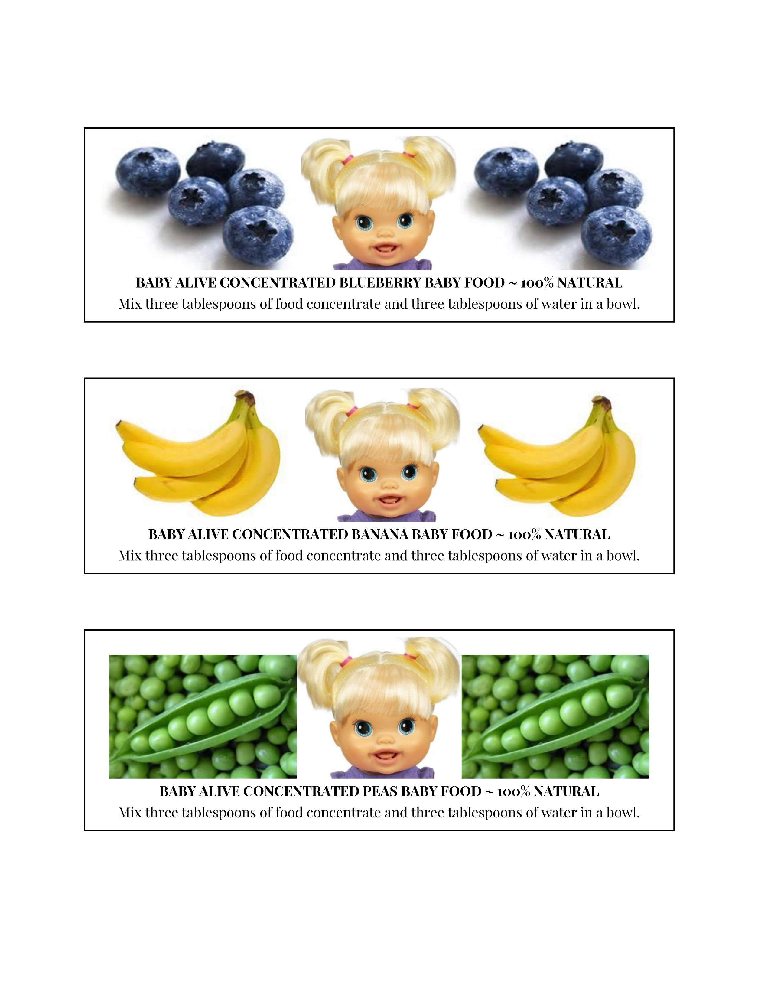 Diy Labels For Homemade Baby Alive Food Glue Or Tape To Baby Food Jars Baby Alive Food Baby Alive Baby Food Jars