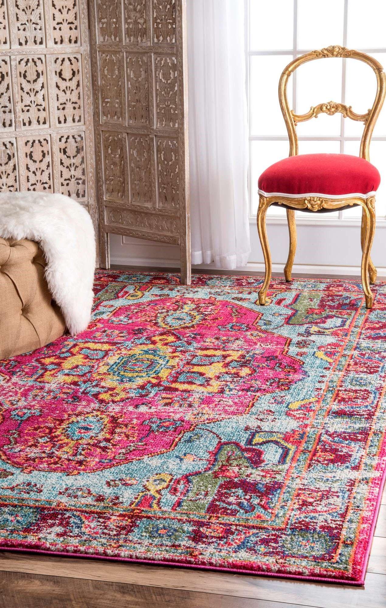 Innenteppich Loughlam In Rosa Deko Der Perfekte Teppich