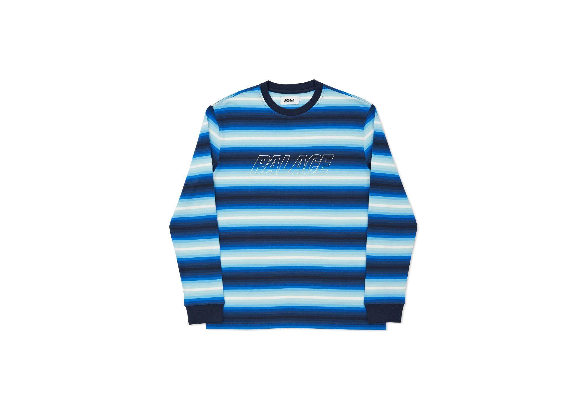 121b2f6ddb PALACE SKATEBOARDS FADER STRIPE TOP BLUES | On Streetwear | Winter ...
