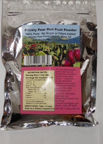 Prickly Pear RED Fruit Powder: 1 Resealable Mylar Bag (Equivalent up