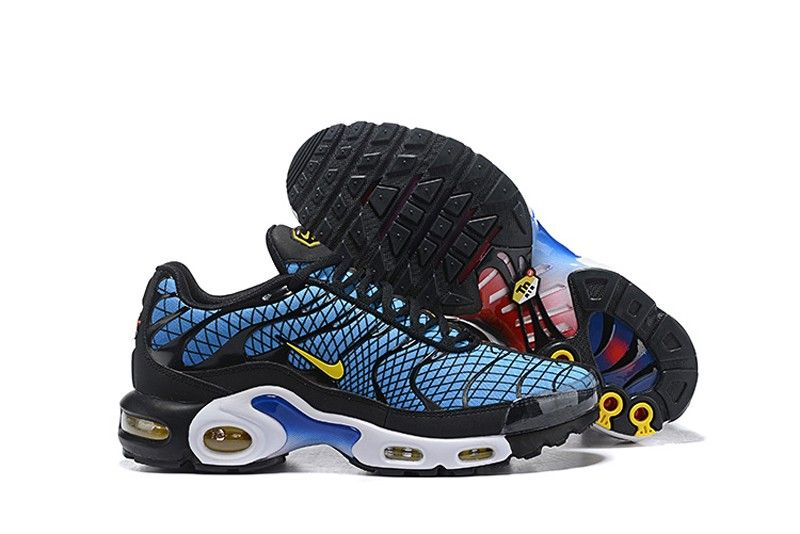 New Designer Nike Air Max Plus TN Striped Black Total Orange Anthracite Tour Yellow AT0040 002 Sneakers Men's Running Shoes AT0040 002