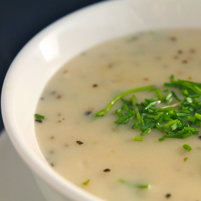This Sour Cream and Chive Sauce is the perfect accompaniment for pierogis!
