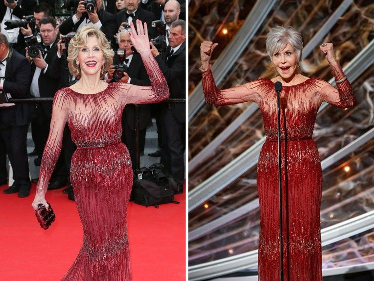 From Tiffany Haddish to Jane Fonda, here are celebrities who have recycled their red carpet looks years later