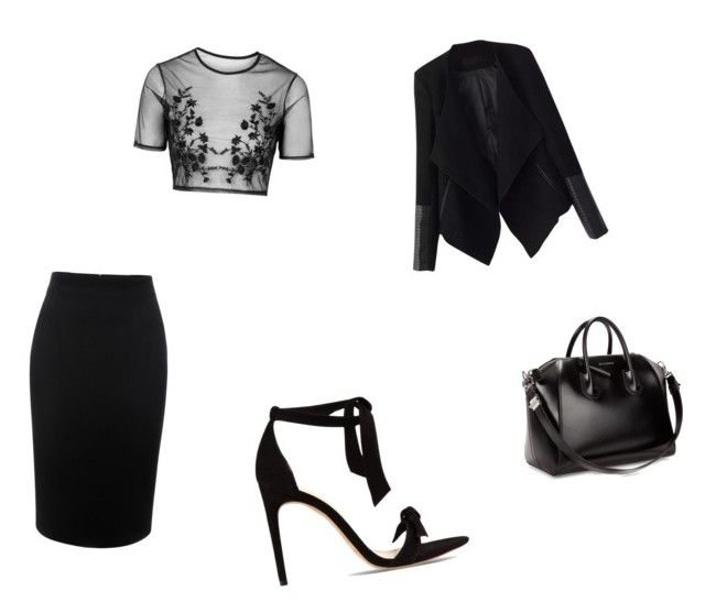 """Untitled #42"" by alexarc on Polyvore featuring Alexander McQueen, Topshop, Alexandre Birman, Givenchy and Relaxfeel"