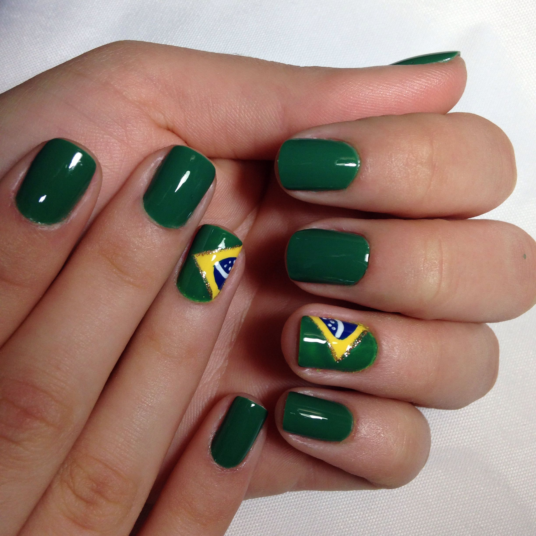 World Cup Nails Design  Brasil