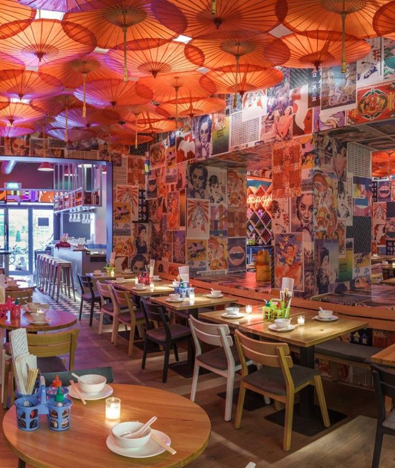 Happyhappyjoyjoy Restaurant Is Inspired By The Hectic Streets Of