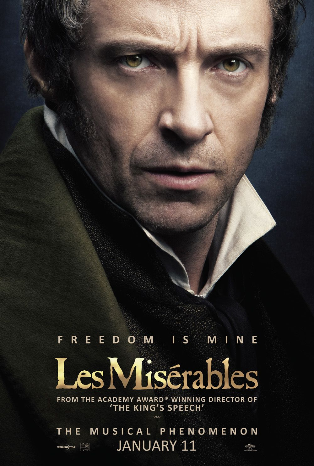 Hugh Jackman S Face Fronts The Latest Poster For Les Miserables