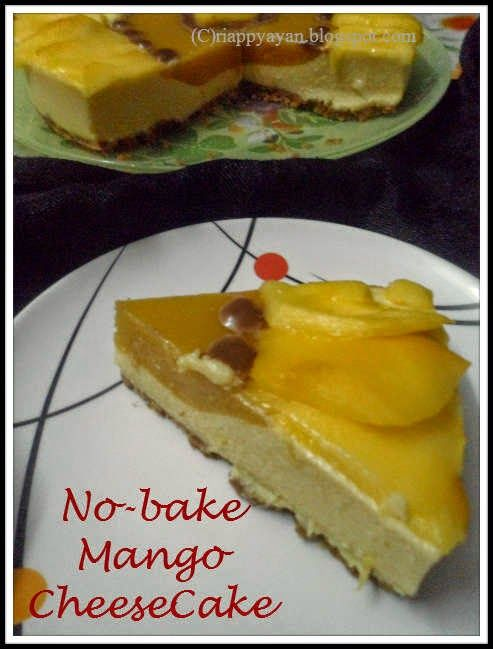 No Bake Mango Cheesecake Using Paneer Condensed Milk And Gelatin Recipe Junction Gelatin Recipes Mango Cheesecake Baking