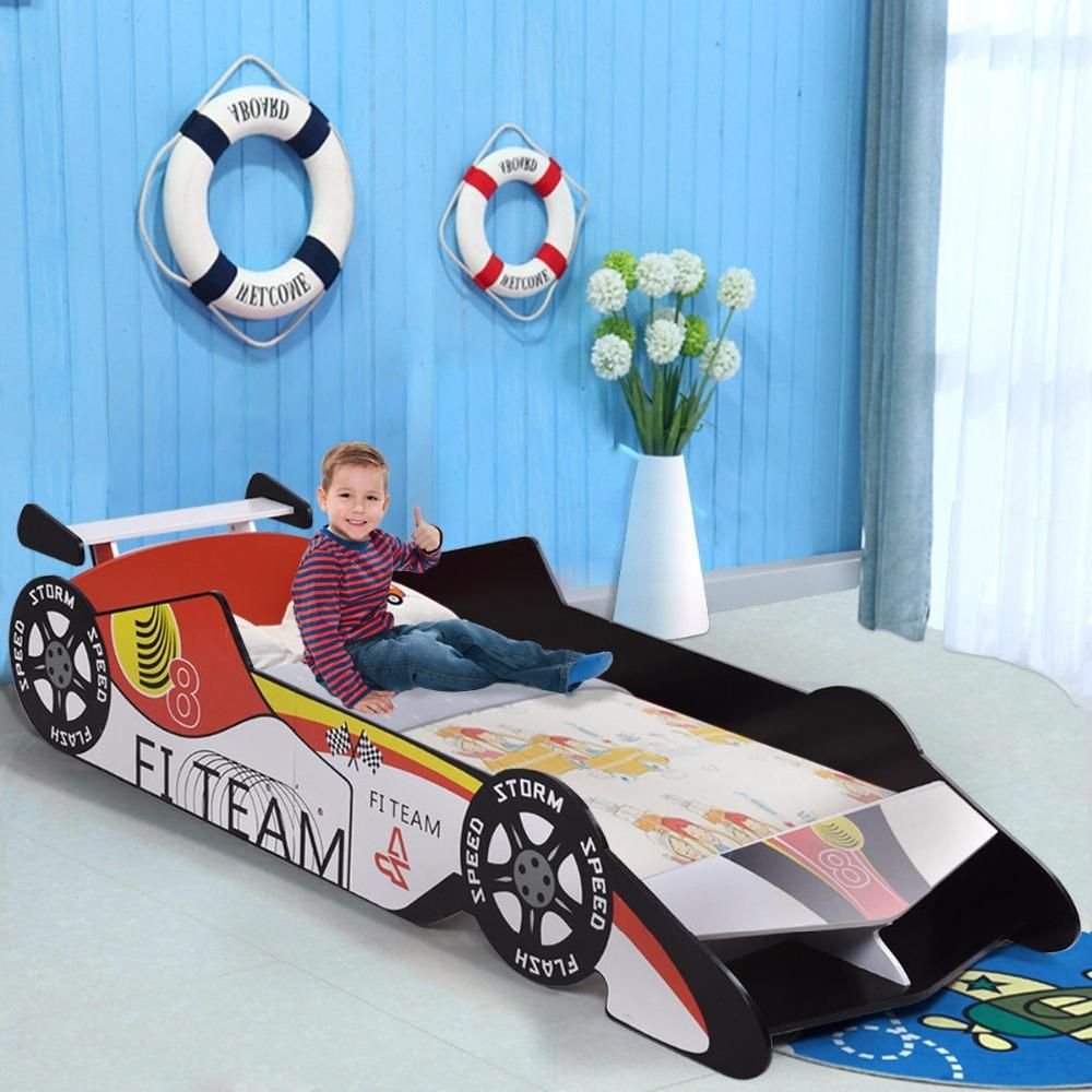 Modern Kids Toddler Race Car Bed With Images Kids Toddler Bed